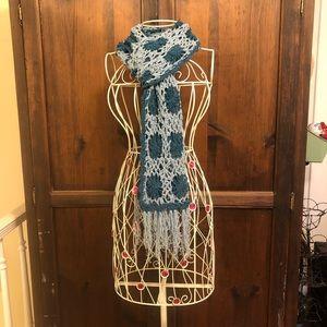 Lucky Brand Soft Crochet Flower Scarf
